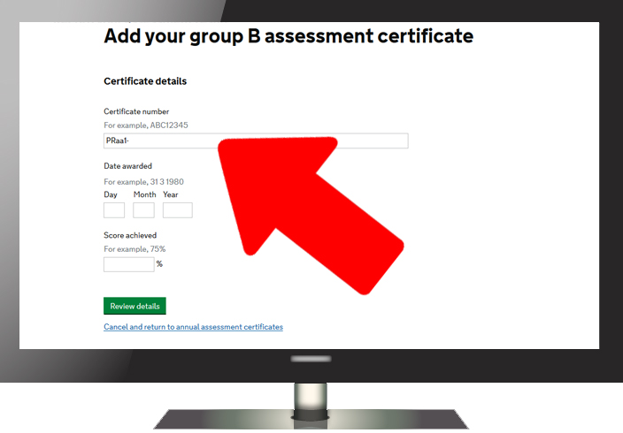 How to record your annual assessment result - Step 4