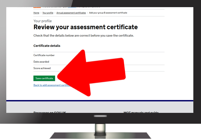 How to record your annual assessment result - Step 5