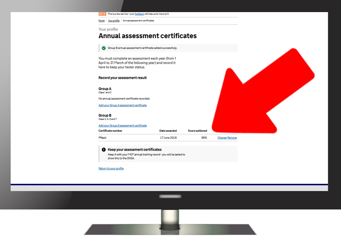 How to record your annual assessment result - Step 6