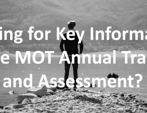 October Update – MOT Annual Training and Assessment
